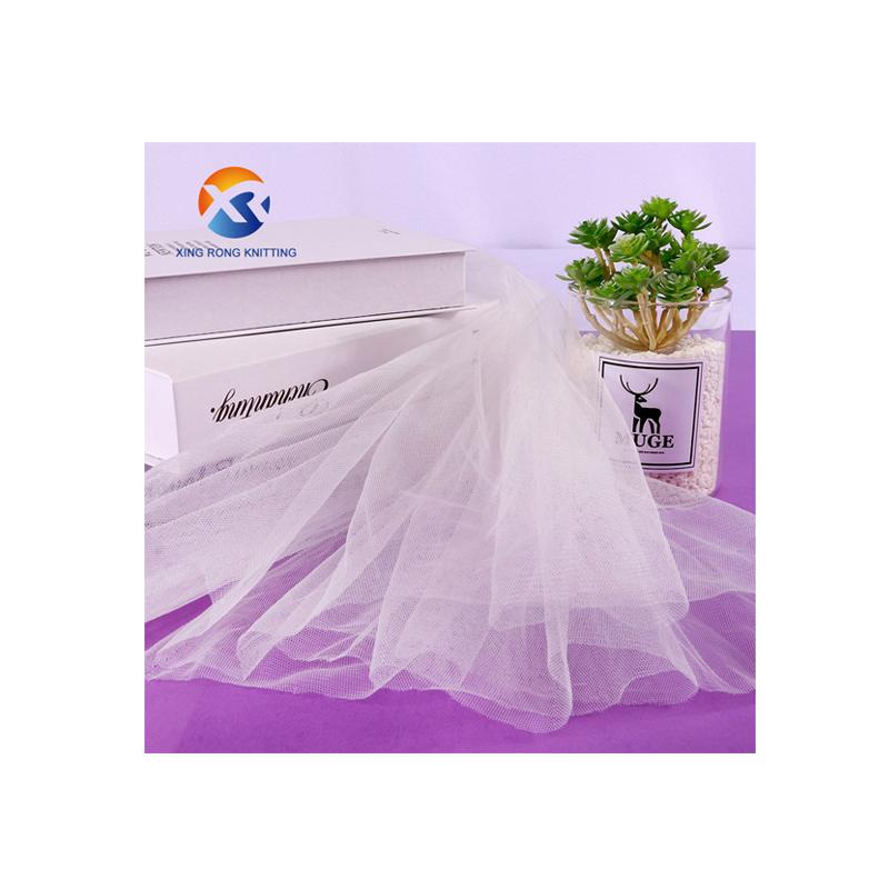 Doğrudan satış ucuz % 100% naylon düğün tül parıltılı kumaş tül kumaş düğün için