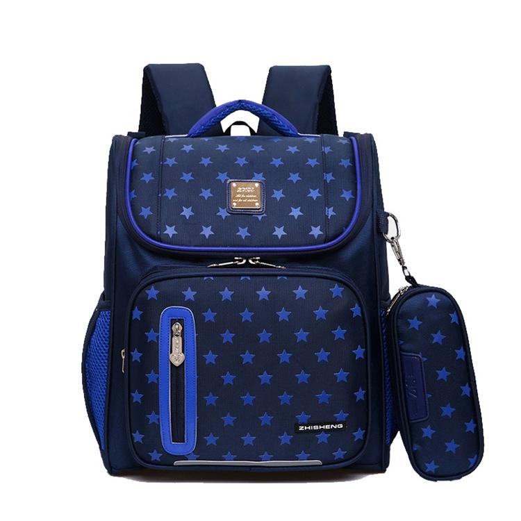2020 New Design Vintage Style Rucksack Red Blue Colorblock School Bags Nylon Children School Backpack for Teenagers