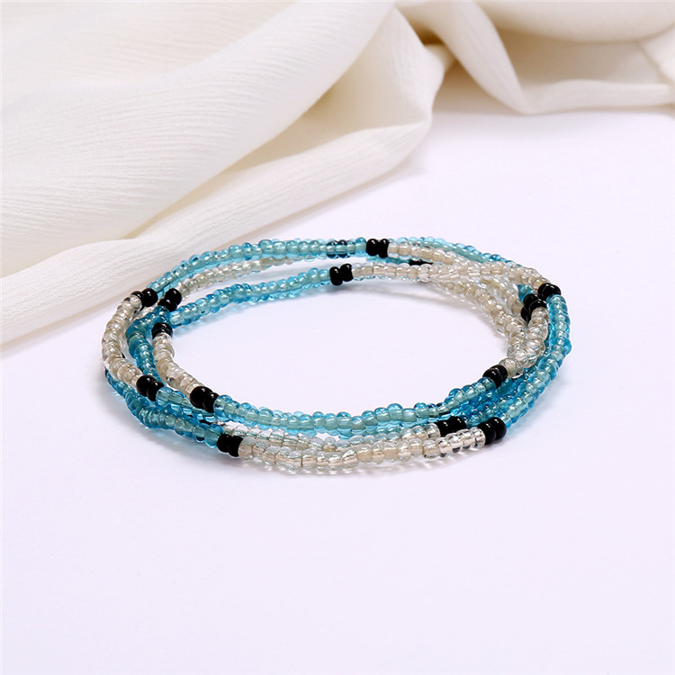 SP New Arrived Hot Selling Women Waist Chain Style Colorful Beads Made Multi Layered 63 Colors Seed Beads Waist Chains