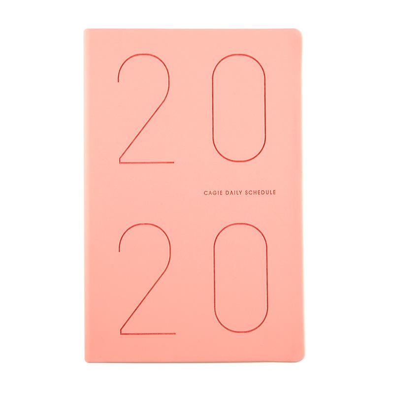 Повестки дня 2020 кожаный планер журнал органайзера A5 планировщик журнал еженедельно ежемесячно дорожный блокнот школьные 2020,1-2020,12 D40(Китай)