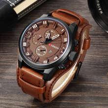 CURREN Лидирующий бренд Роскошные Мужские часы Дата спортивные военные часы кожаный ремешок кварцевые деловые мужские часы подарок 8225(Китай)