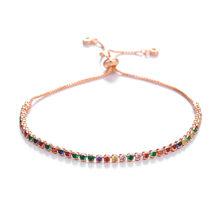 Женский браслет с цепочкой JUWANG, регулируемый браслет с кристаллами для свадебной вечеринки, ювелирное изделие, подарок(Китай)