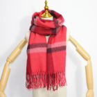 Christmas Scarf 2020 New Arrival Classic Tartan Plaid British Style Cashmere Soft Handfeel Red Christmas Scarf