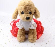 Transer Creative Hot! Новинка 2020, модное свадебное платье с изображением собаки, юбка, летняя роскошная одежда принцессы для домашних животных, юбка с...(Китай)