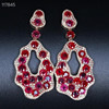 18k gold 8.5ct natural ruby earrings