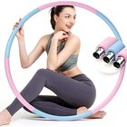 Hoop Hula Hoops Weighted Hoop Beginners Hula Hoops Stainless Steel Tube Detachable Design 8 Sections Fitness Hoop