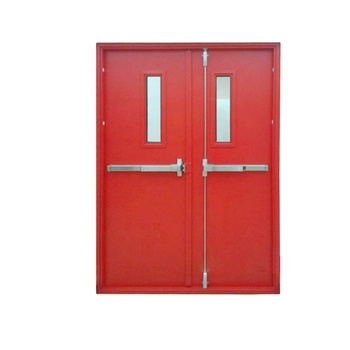 UL listed Hotel School Glazed Steel /Metal/Hollow Metal Fire rated Door with Glass vision/panel