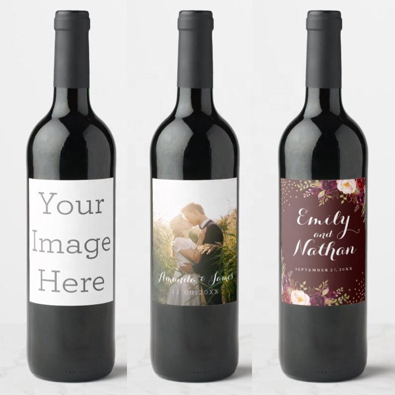 Customized Personalized Decoration Bottle Custom Logo Wine Sticker Private Label
