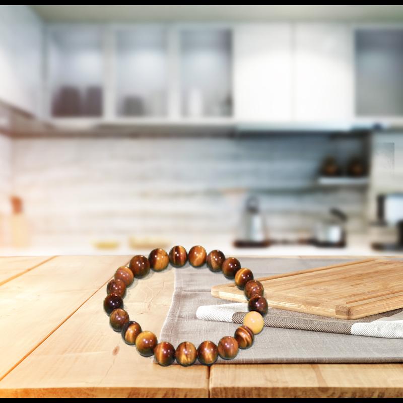 Newest design top quality bead bracelet natural stone tiger eye stone bracelet