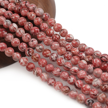 Natural Watermelon red beads round beads Gemstone Round Loose Beads for Jewelry Making