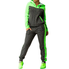 Women Jacket Women Hoodie Jacket Jogger Pants Clothing 2 Piece Set Fashion Contrast Color Running Tracksuit