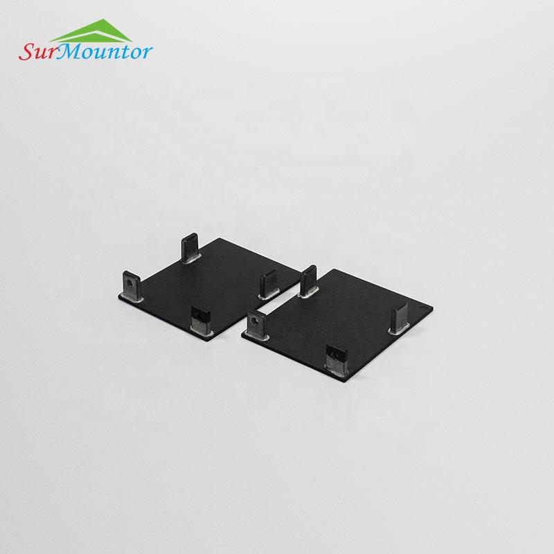 A5570 Black Color Diffuser Manufacturer Aluminum Extrusion Ceiling Black Cover Led Profile