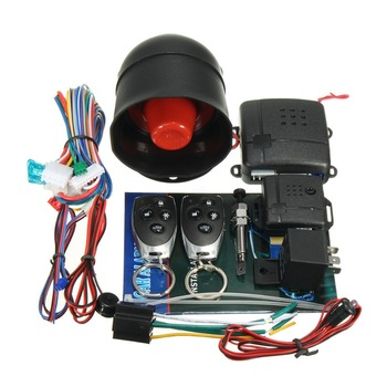 Car alarm system universal one way design