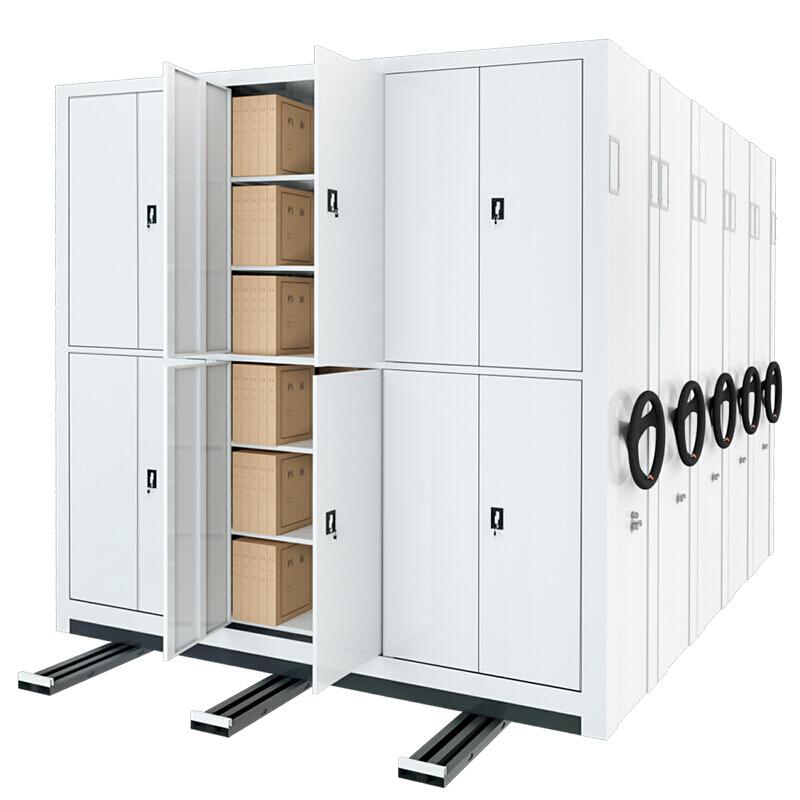 Manual Mass Shelf Mobile Filing Cabinet Compact Shelving System