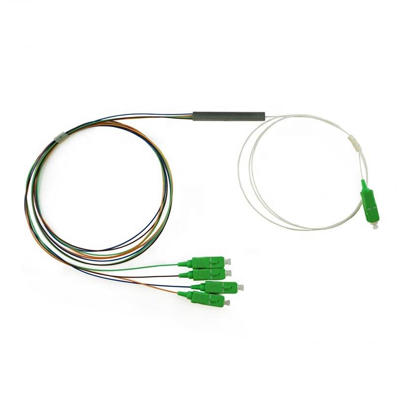 1x2 1x4 1x8 1x16 1X32 1X64 Optical Fiber With SC/UPC Connector Steel Tube Type PLC Splitter
