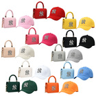 New Messenger Bags New Designer Women Logo Chain Messenger Bags LA Handbags And Matching Hats Set Designer NY Detroit Bucket Hat And Purse