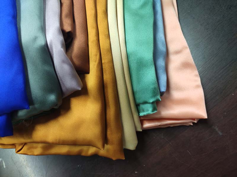 fabric supplier chinese plain dyed charmeuse  cheap pure silk satin fabric