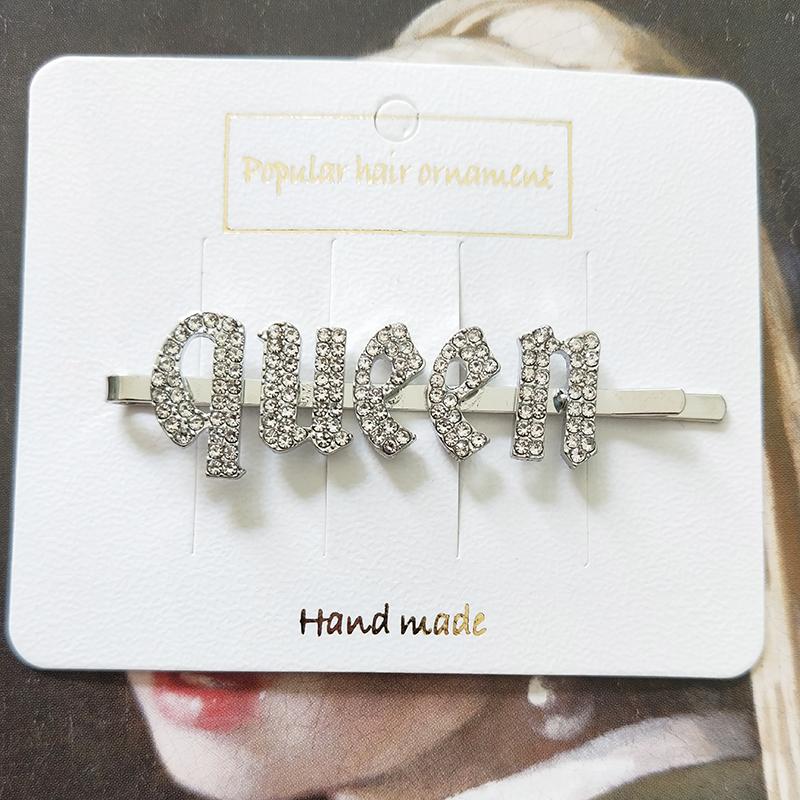 Распродажа, оптовая продажа, зажимы для волос с изображением бахромы $, испорченные кристаллы, заколки для волос для женщин, заколки для волос с надписью