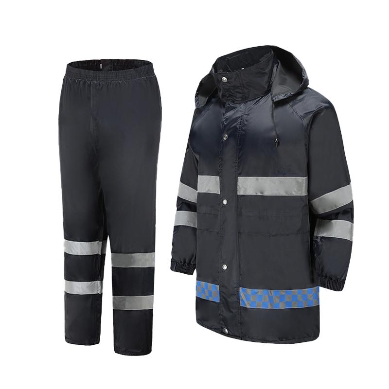 Хорошее качество, индивидуальный водонепроницаемый дождевик для ходьбы с разрезом, низкая цена, бестселлер, Светоотражающий Комплект рабочего костюма