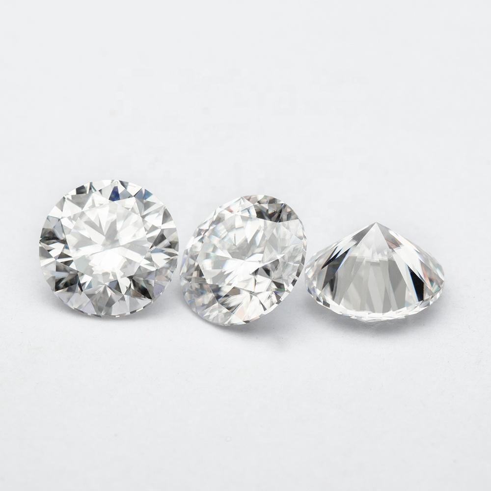 Wholesale 1carat Loose Moissanite Round 6.5mm White Moissanite Stone Synthetic Diamond price