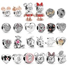 925 Sterling Wholesale 925 Sterling Silver Mickey Charms Annimals DIY Charms For Bracelet Necklace Jewelry Making