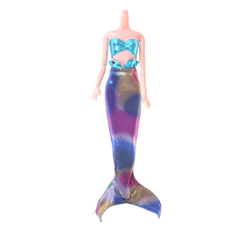 Для кукол, оригинальное платье русалки, модная одежда, хвост, детское игрушечное платье, куклы ручной работы, вечернее платье, платье, юбка, аксессуары для кукол, подарок