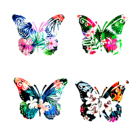 New Arrivals Metal Butterfly Wall Decor Colored Butterflies Wall Art Ornaments Wall Handing Decor