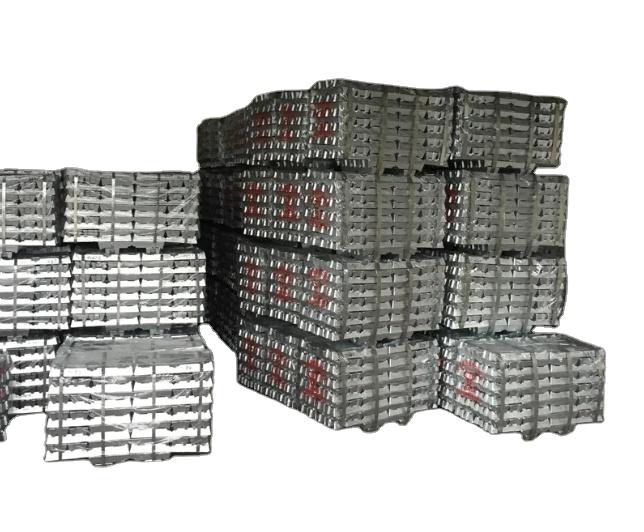 Серебристо-белые металлические цинковые слитки, изготовленные в Китае