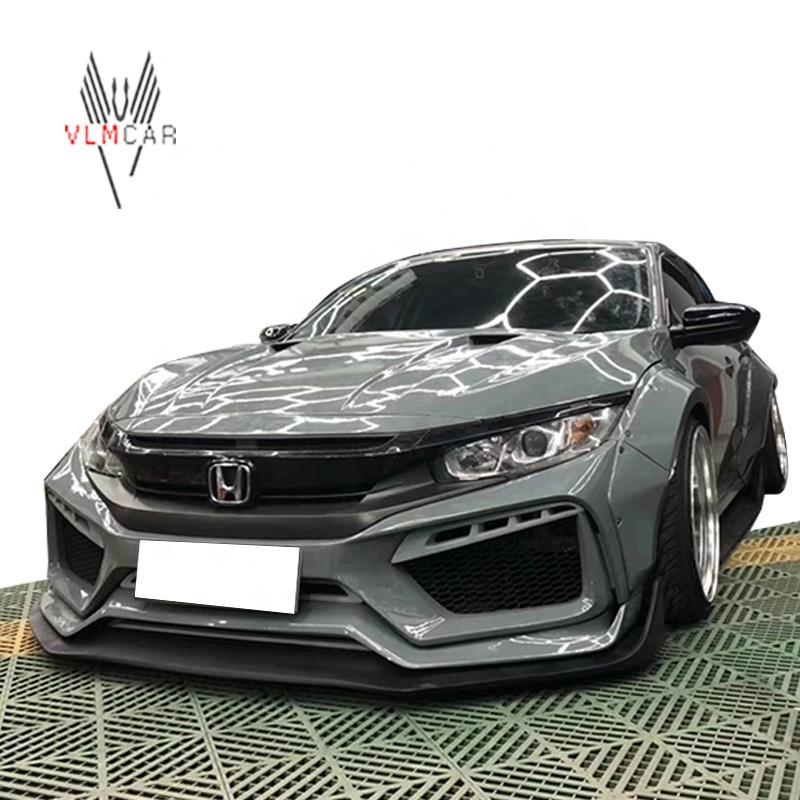 Typer Wide Body Kit For Honda Civic Sedan Front Bumper Rear Bumper Side Skirts Buy Body Kit For Civic Wide Body Kit For Civic Product On Alibaba Com