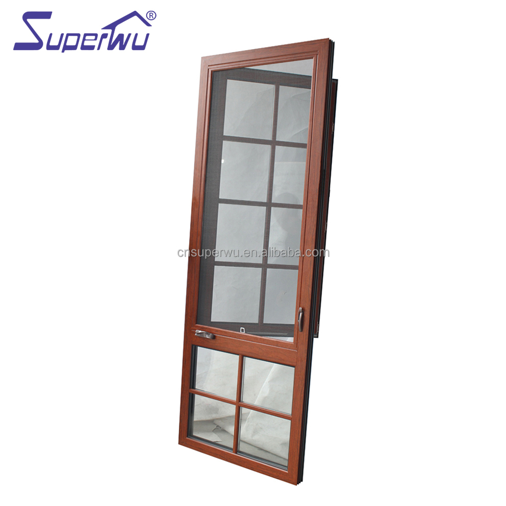 NFRC impact frame glass thermal break aluminum casement windows