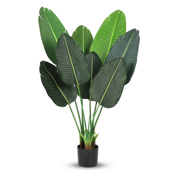 Wholesale Simulation Green Plant Floating Large Pot Decoration Indoor Traveler Banana Bonsai Artificial Plants Trees
