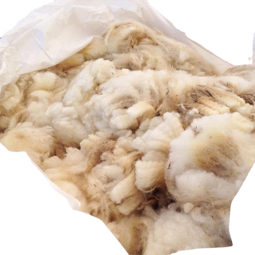 Органическое хлопковое волокно естественного цвета экологически чистое наполнение