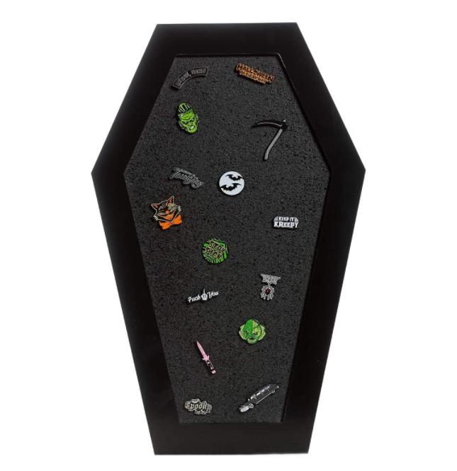 Black MDF Wooden Coffin Cork Board Corkboard - Yola WhiteBoard   szyola.net