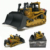 Manufacturer HUINA 1700 1:50 die-cast rc bulldozer toy static model for children