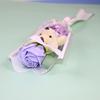 Purple bear with rose