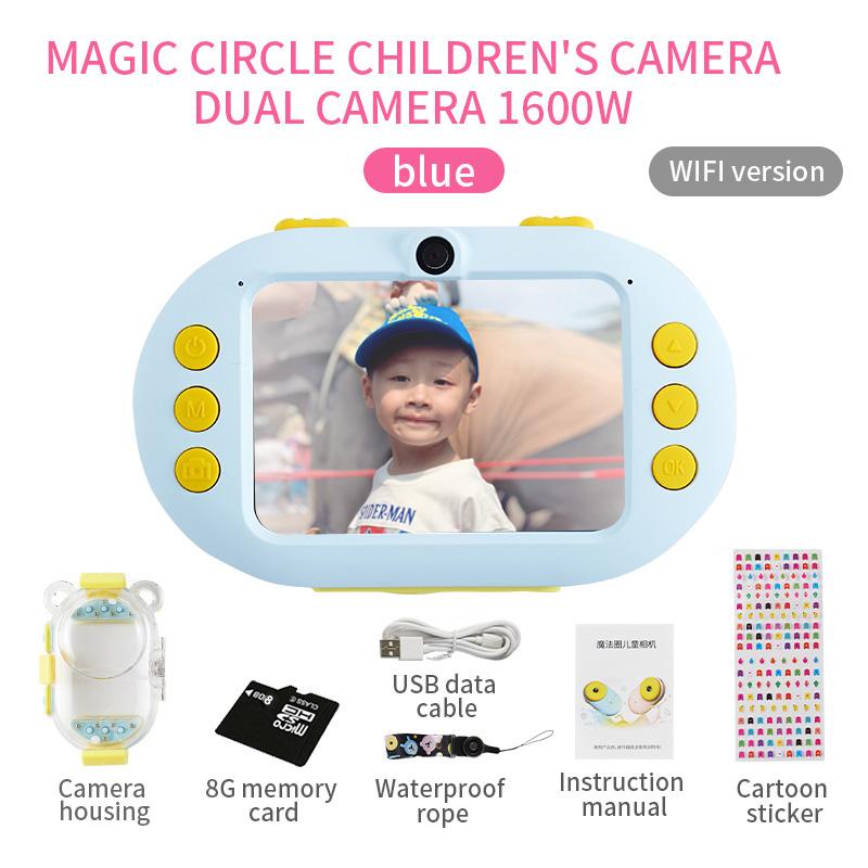 Камера для детей, Противоударная и передняя и задняя селфи-камера, детские развивающие игрушки(Китай)