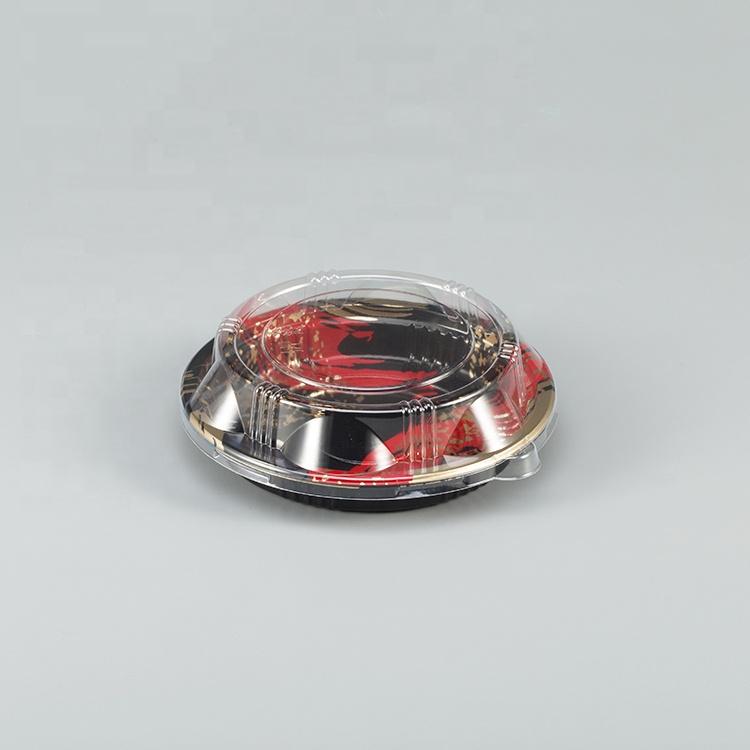 Одноразовая круглая коробка для суши, коробка для суши, контейнер для суши с крышкой