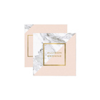 Cheap Card Business Card Design Cheap Custom Modern Geometric Marble/Pink And Faux Gold Square Business Card