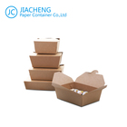 Food Container Paper Take Out Box Custom Disposable Brown Food Packaging Container Kraft Paper Take Out Lunch Boxes