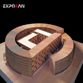 Very exquisite global landmark building model made for exhibition exchange 3d wood models making