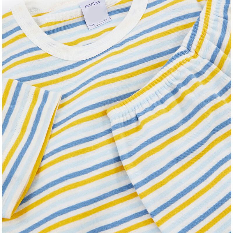 Custom Knitted Short Sleeve Children Nighty Pajamas Set Fashionable Sleeping Top+Shorts Nightcoat Nightclothes Night Wear