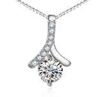 The new s925 sterling silver pendant is a stylish and elegant necklace with clavicle jewelry
