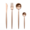 Rose gold Set(4pcs:knife,fork,spoon,teaspoon)