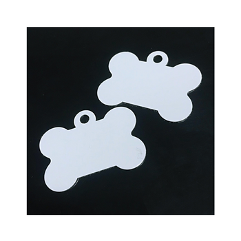 Wholesale Custom Size Gloss White Blank Dye Sublimation Metal Printing Pet ID Dog Tag License Tags Aluminum