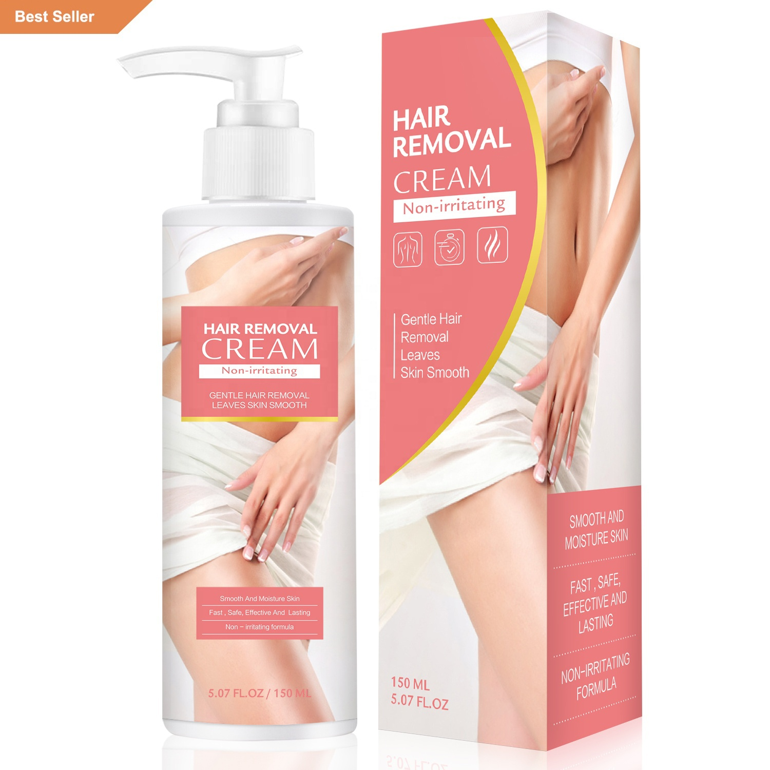 Effective Non-irritating Fast Remove Unwanted Body Hair in 5 minutes Depilatory Hair Removal Cream