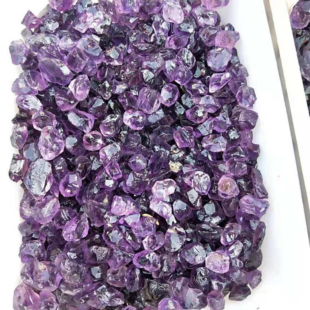 Natural Rough Stone Amethyst Unpolished Crystal Quartz Tumbled Stone