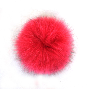 Fashion style red 11cm fox fur pompom