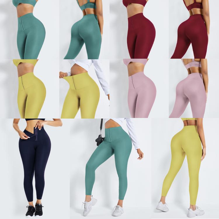 Lover-Beauty Wide Waistband High Waist Elastic Seamless Sport Yoga Pants Leggings Sportswear