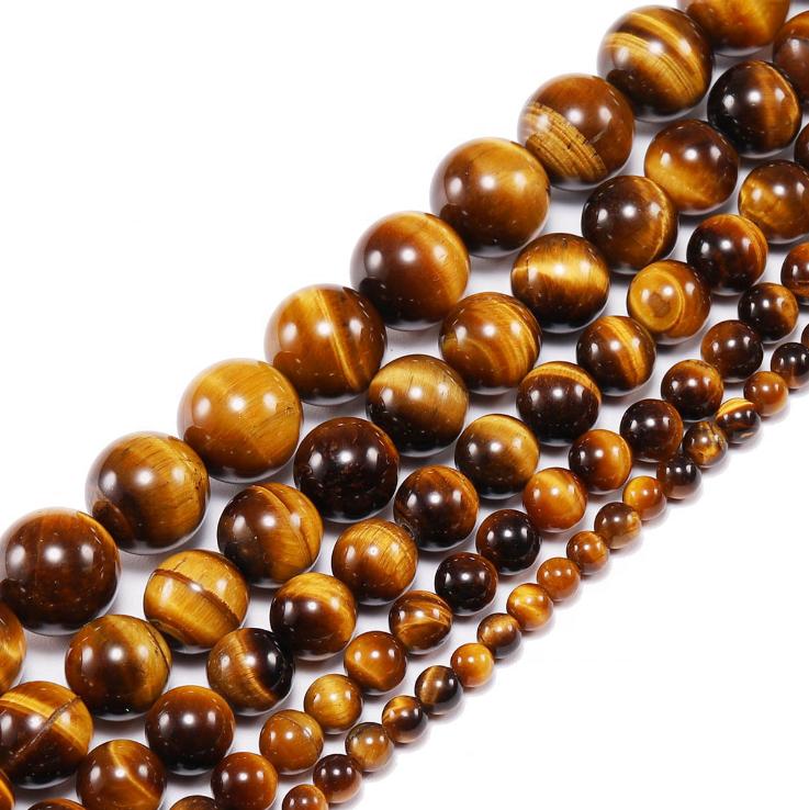 Wholesale natural yellow tigers eye crystal stone tiger eye beads