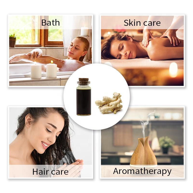 Экстракт имбирного масла, чистая натуральная эссенция, имбирное масло для роста волос, массажное масло